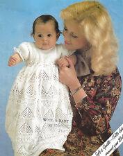 BEAUTIFUL BABY CHRISTENING DRESS18/22 INCH KNITTING PATTERN      (234)