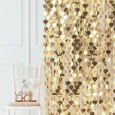 GOLD HEART BACKDROP - GOLD WEDDING, Venue Decoration, Best Day Ever, Curtain