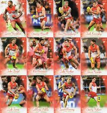 2018 AFL SELECT  FOOTY STARS SYDNEY SWANS FULL SET OF COMMONS 12 CARDS