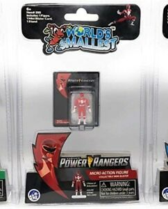 """""""Worlds Smallest"""" Red Power Rangers Micro Action Figures Collect them all!!"""