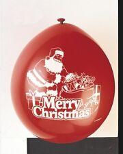 Navidad 22.9cm Globos Látex Pack de 10 en Rojo con Estampado Blanco Rellenos