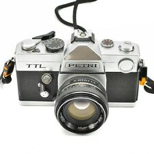 PETRI TTL CAMERA WITH C.C AUTO 55mm f/1.8 LENS c.1975