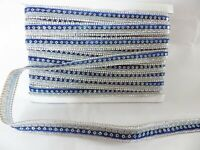1m x 15mm Iron On/Sew On Diamante Trim Trimming for Clothing Crafts: RICH BLUE