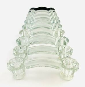 Antique Glass 6 and 8 Sided Drawer Pulls 10 Cabinet Handles Set 9 Clear 1 Black