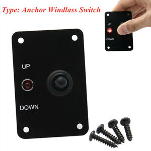 12V Switch Terminal Panel Up/Down Toggle Switch Aluminum Plate