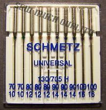 Needles Universal 130/705H Sizes 2-10s 3-12s 3-14s 2-16s Brother Kenmore Necchi