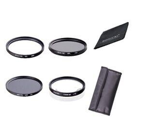Rise(UK) UV CPL ND8 +10 Close-Up Lens Filter Set Kit for Canon Nikon Sony