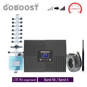 Cell Phone Signal Booster AWS 1700/2100MHz Band66/4 Repeater Yagi Antenna Kit