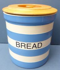 Gorgeous Vintage Cornishware Bread Bin 1980s Cloverleaf TG Green Cornish Ware