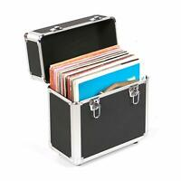 Neo 12'' Inch LP 50 Vinyl Record Aluminium Flight Case DJ Black Storage Box NEW