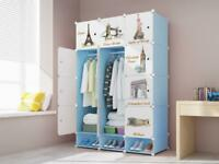 12 Cube Plastic Wardrobe Cupboard Closet Cabinet Organiser Storage Furniture Set