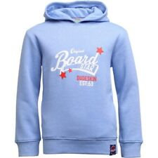 Boys Branded Dudeskin Logo Hoody Light Blue Marl Age 5-6 Yrs BNWT RRP £31.99