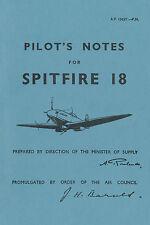 SUPERMARINE SPITFIRE 18 - PILOT'S NOTES / AIR PUBLICATION A.P.1565Y.-P.N.