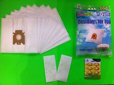 10 sacchetti filtro aspirapolvere per Miele: S 371 Tango Black (sacchetto