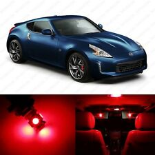 5 x Brilliant Red LED Interior Light Package For 2009 - 2013 Nissan 370Z
