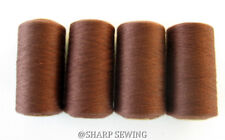 COLONIAL BROWN #699 SPUN POLYESTER SERGER & QUILTING THREAD 4 TUBES 1000 YDS. EA