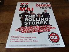 THE ROLLING STONES - ADVERT!!!!CONCERT OUI FM !!!! 2006 !!!