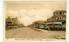Ocean City NJ - WESLEY AVENUE NORTH FROM 12th STREET - Postcard