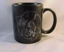 BASSETT HOUND black procelain mug by Rosadinde Inc., Rittman, OH   FREE SHIPPING