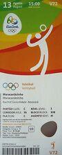 mint TICKET 13.8.2016 Olympia Rio Volleyball Men's Polen - Russland # V72
