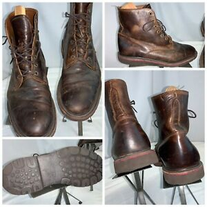 Walkover Boots Sz 11.5 Men Brown Leather Lace Vibram USA Mint Cond YGI I0S-76