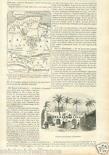 Map Carte Sahara Algeria Algérie Ghadames Tripolitania Libya GRAVURE PRINT 1848