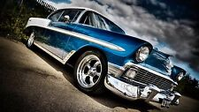 "Blue Muscle Car Mini Poster 24"" x 36"""