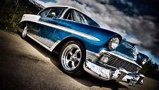 "Blue Muscle Car Mini Poster 13""x19"" HD"