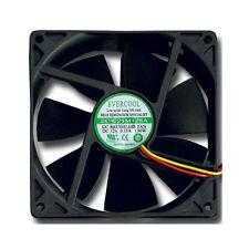 Evercool 92mm x 25mm Sleeve Bearing Cooling Fan 12V 3 Pin connector EC9225M12SA