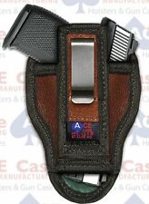 S&W M&P 40 all Versatile Ambi Tuckable IWB Leather Concealed Carry Holster