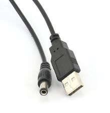 USB v2.0 Male Plug to 5.5mm Type N DC Barrel Jack Plug 5v Power Cable