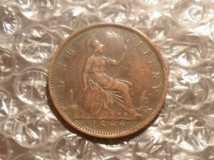 1866 Victoria penny.