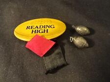 Old Vtg Football Reading High Pin 2 Metal Footballs Lot Decorative Pin