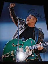 BONO SIGNED AUTOGRAPH 11x14 PHOTO U2 BAND IN PERSON PROMO RARE ELEVATION COA X5