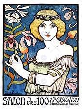 EXHIBITION ART NOUVEAU PARIS FRANCE VINTAGE RETRO ADVERTISING ART POSTER 1685PY
