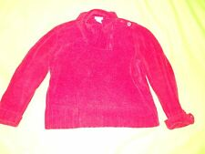 Chinelle ~ RED Asymmetric side button collared Sweater ~ Size XL ~ St John's Bay
