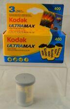Kodak Ultramax 400 35mm Color Film 3 x 24 Exp 07/2013 + 1 Extra Roll