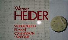 WERNER HEIDER Stundenbuch Plakat Commission 1.Sinfonie LP Thorofon NM