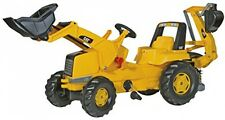 Cat Construction Pedal Tractor, Backhoe Digger Pedal-powered Pretend Toys Kids