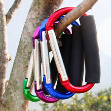 Large D Shape Carabiner with Grip Outdoor Camping Handhold Clip Hook Hardware