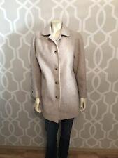 Cabin Creek Women's Coat Size S Small Button Front Beige Wool Blend Euc