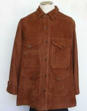 Polo Ralph Lauren Suede Leather Coat Extra Pouch Cargo Pockets Ranch Jacket S
