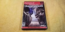 Transformers: The Game (Playstation PS2) GH Greatest Hits w/Bonus CD Complete