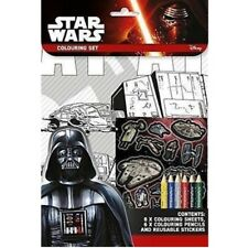 Star Wars Set Colorante Lápices Reutilizable Pegatinas Crafts