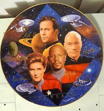 Star Trek Hamilton Plate Captain'S Tribute 30 Years Captain Kirk Picard Sisko Ja