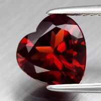 Natural Red Garnet, Madagascar - Heart AAA Grade