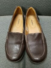 EUC Womens Brown Wilda Leather Loafers Slip On Shoes - Size 7M