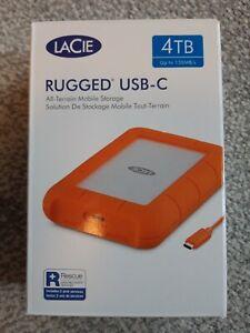 NEW SEALED Lacie Rugged USB-C 4TB External Hard Drive