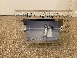 "Sisters Glass Photo Frame 6""x4"""