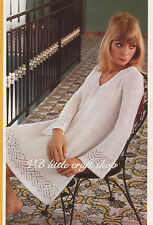 Lady's tunic knitting pattern. Copy from vintage booklet.